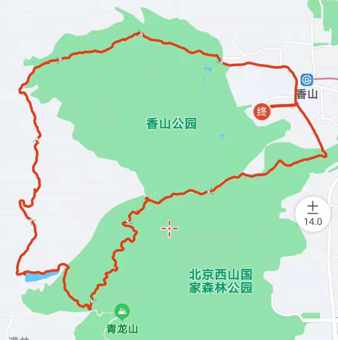 香山小环线 快活林-南马场水库-挂甲塔-碧云寺