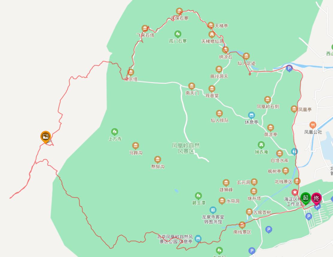 凤凰岭后山十公里大环线 南线-高压线塔-北线