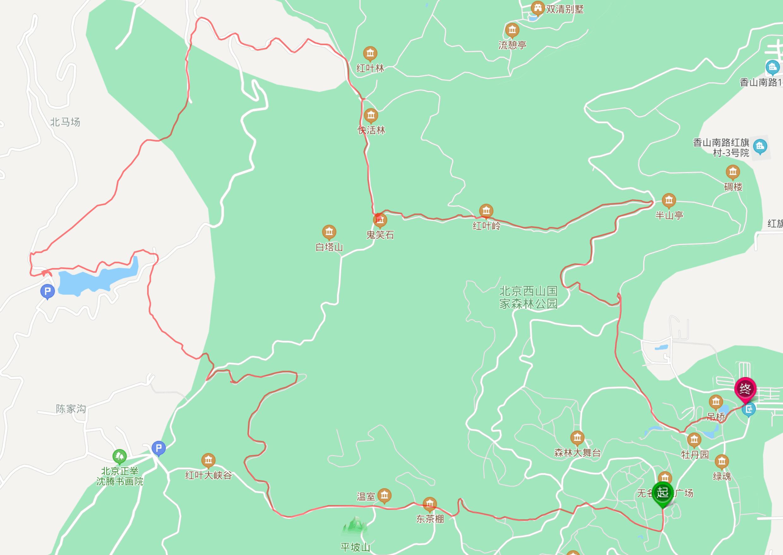 西山公园后山11公里大环线