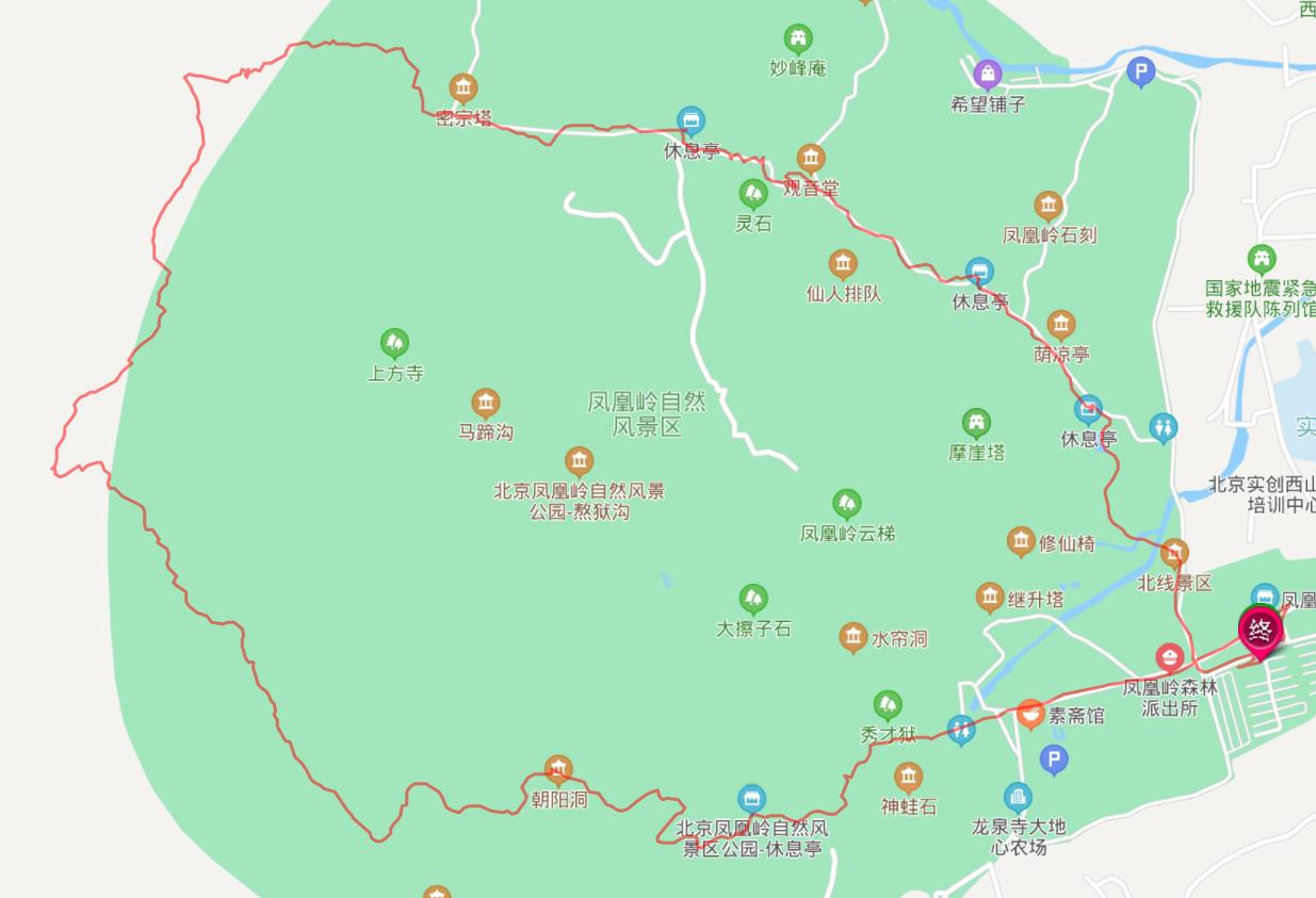 凤凰岭后山八公里大环线 南线-高压线塔-中线